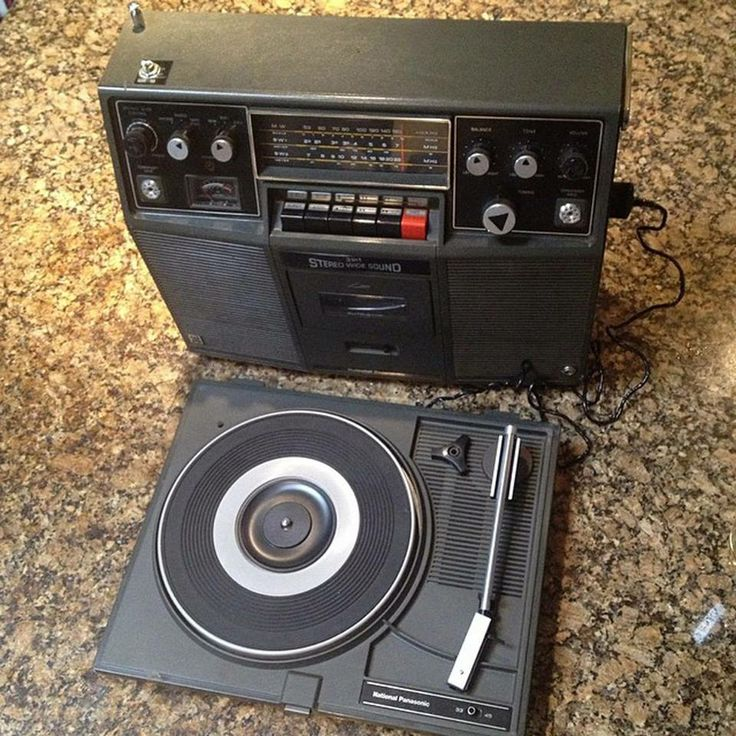 National Panasonic Sh 74 Boombox With Record Player 1978