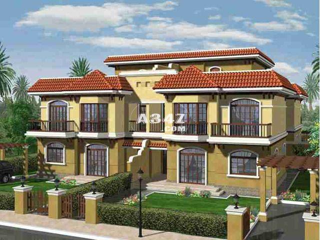 بمدينتى للبيع كاش فيلا رباعيه نموذج I بفيوة جاردن كبير Master Plan House Styles Property For Sale