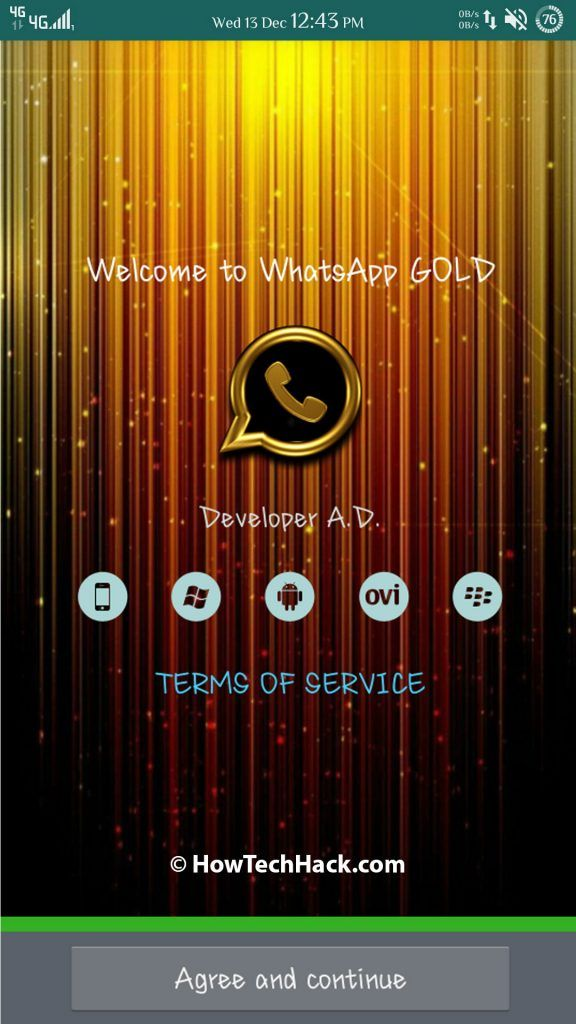 WhatsApp Gold Apk v6 0 Gold Edition Mod (Latest 2018) | WhatsApp