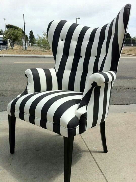 black and white striped furniture. gorgeous black and white striped chair furniture