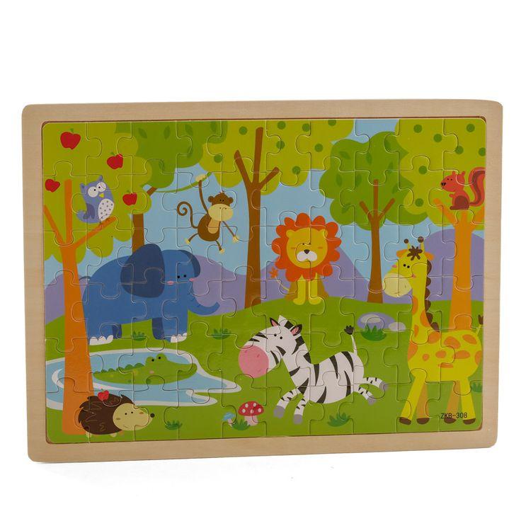 Puzzle infantil animales. Fotografía: Kinoki studio.