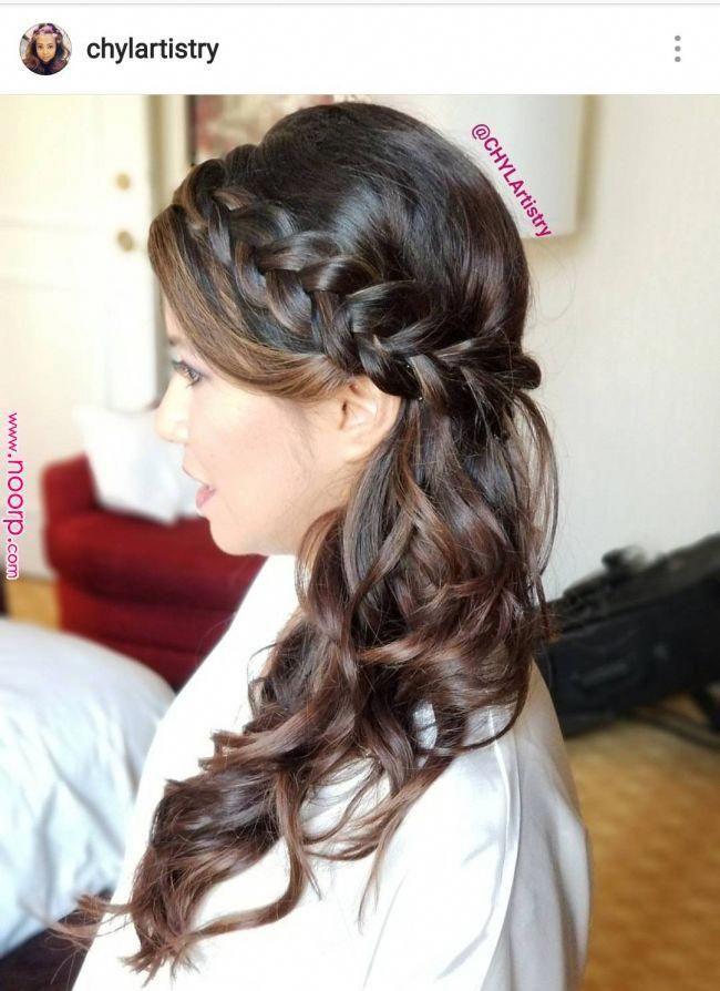 Wedding Braids For Fine Hair 20 Csodas Fonott Menyasszonyi Frizura 20 Amazing Bridal Hair Braids Hair Styles Glamorous Wedding Hair Long Hair Styles