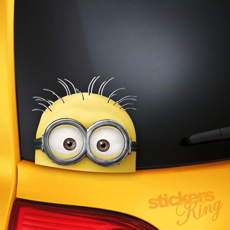 Best Car Decals Images On Pinterest - Minion custom vinyl decals for car