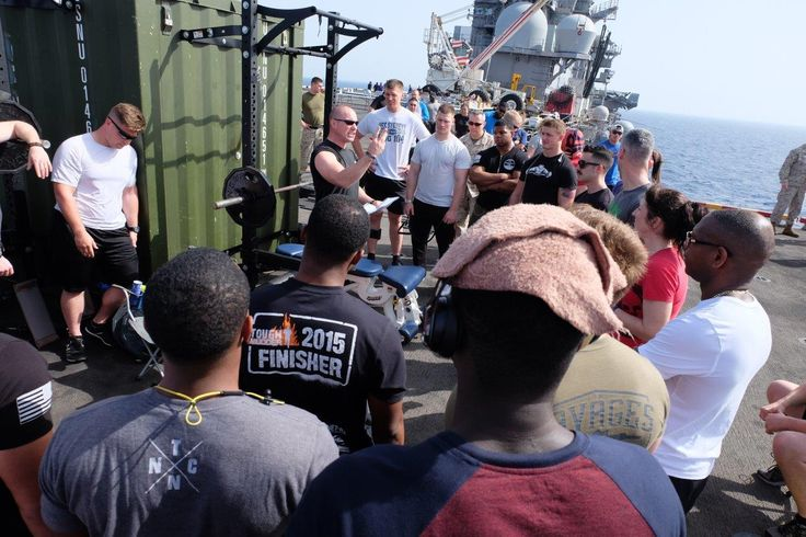 PRx Performance meets USS Bataan powerlifting meet. Bolted to a cargo container, these seaman still find a way to stay in shape. What's your excuse? #FitFromHome
