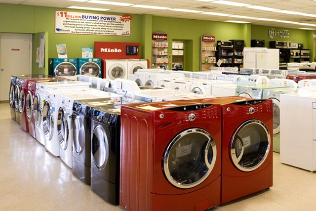 Mrs. G's has a large selection of Washers and Dryers on display including Miele, Whirlpool, Maytag, Samsung, LG, GE, Electrolux, Frigidaire, Bosch and Asko. Go to http://www.mrsgs.com/clearance_models.html to check out washers and dryers on sale.