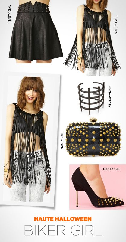 12 best fashion images on Pinterest Casual wear, Color - biker chick halloween costume ideas
