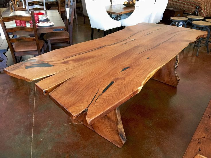 Mesquite Dining Table Freeform Style - Custom Wood Furniture Phoenix  Wood  Furniture in Phoenix