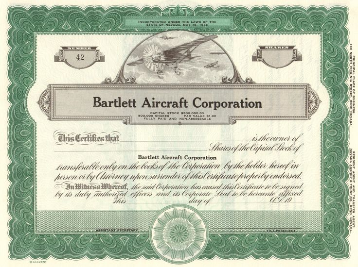 209 best Vintage stock certificates images on Pinterest Boat - blank stock certificate template free