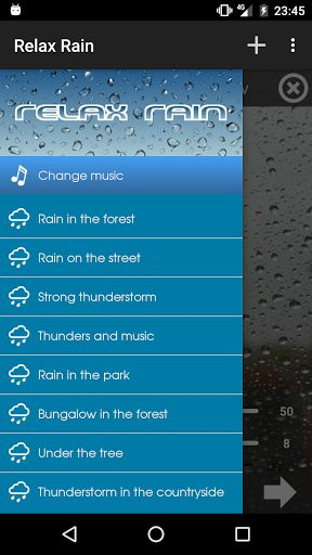 Relax Rain - Rain sounds v4.6.0 [Premium]   Relax Rain - Rain sounds v4.6.0 [Premium]Requirements:2.3Overview:The largest collection of relaxing rain for Android. Over 30 rain sounds (free and HD) mixable with thunders and music in order to reach a state of complete relaxation.  Ideal for sleeping meditation concentration or if you have tinnitus problems (ringing in the ears).  You can adjust the volume of rain thunders and music individually to find the ideal combination and so encourage a…
