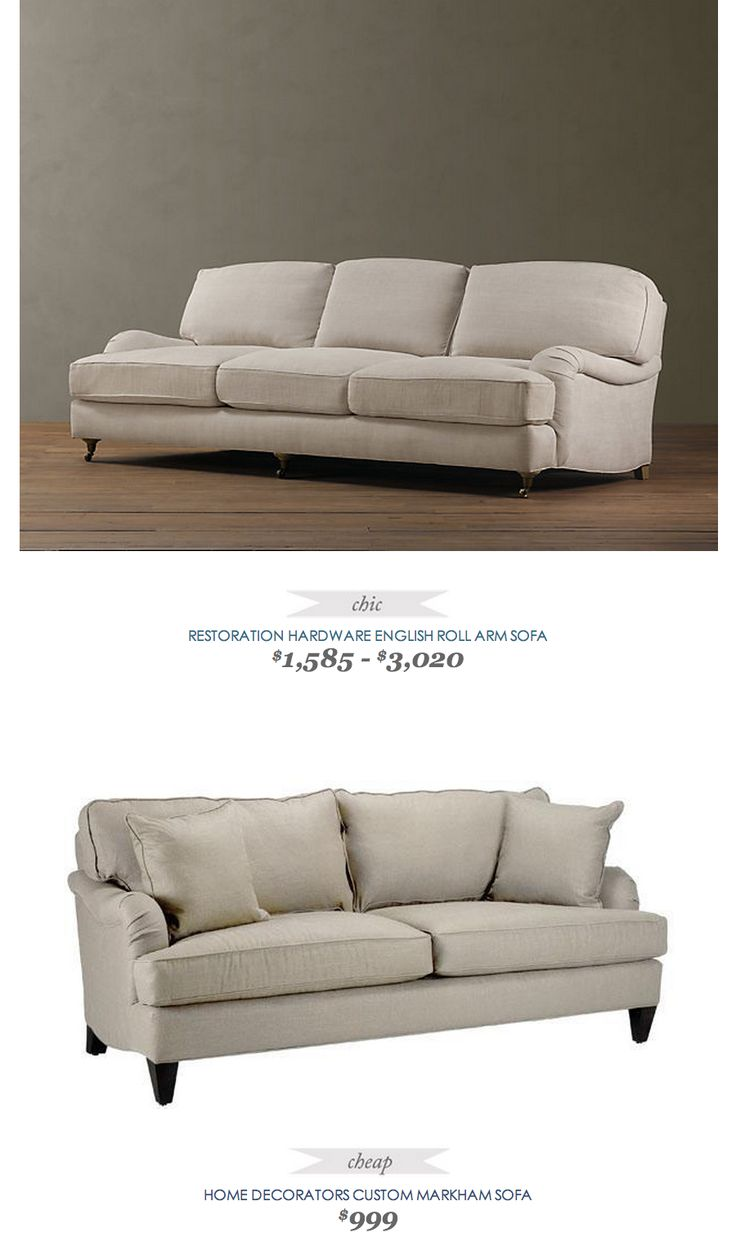 Copycatchicfinds Restorationhardware English Roll Arm Sofa 3020 Vs Homedecorators Custom Markham