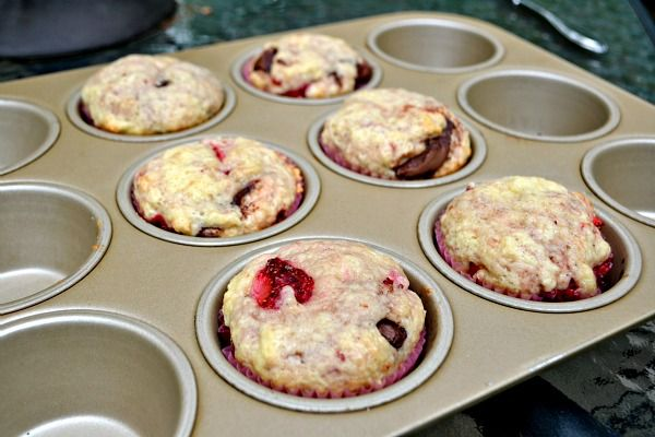 Peanut Butter Runner | Strawberry Nutella Muffins | http://www ...