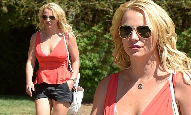 Britney Spears flaunts cleavage in plunging pink top while out in LA