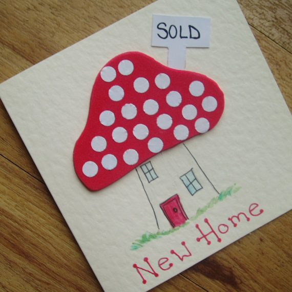 New Home card by onelittlepug on Etsy, $2.25