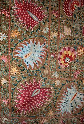 Uzbek Journeys: Symbols in Stitches: Uzbek Suzanis. {'Suzani' derives from the Persian word for needle.}