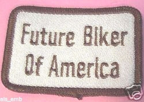 "Kids Motorcycle Biker Patch Emblem Future Biker Of America Embroidered 2"" x 3"""