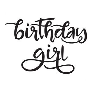 Silhouette Design Store: birthday girl