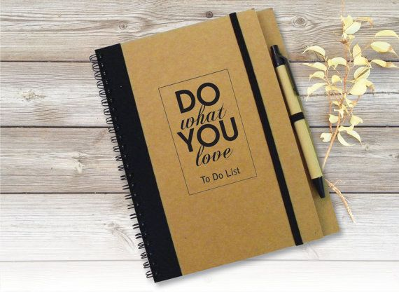 To Do List Notebook Customized Journal Personalised by LooveMyArt