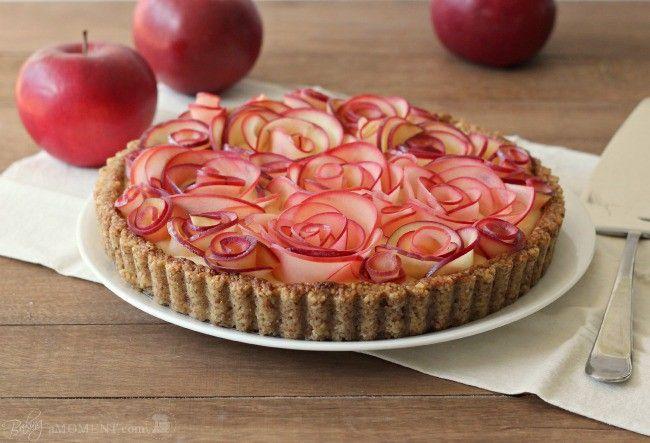 Яблочный пирог с розами » Женский Мир