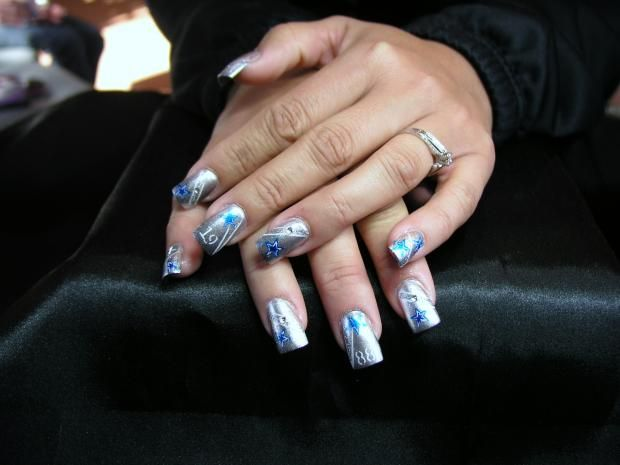 13 best dallas cowboys nail art made by someone else images on razzle dazzle you nailed it america google search dallas cowboys nails cowboy nails beauty nail art nail arts prinsesfo Gallery