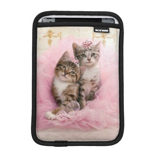 Avanti Press - Sweet Kittens in Tiaras and Pink Sparkly Tutu. Regalos, Gifts. #fundas #sleeves