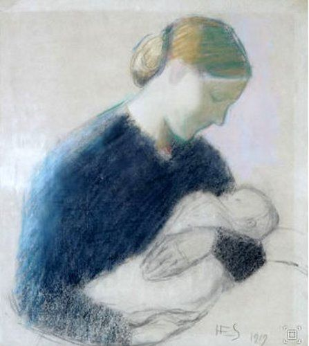 Mother And Child, 1867-1946, Hanna Frosterus-Segerstrale