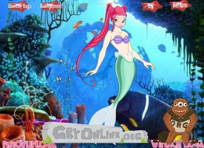 Winx Mermaid Dress Up | Gra Ubieranka Winx Mała syrenka - Mermaid Dressup