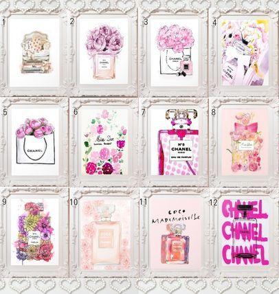 インテリア雑貨 PINKセレクト【選べるフレーム付アートポスター】CHANEL・Dior☆