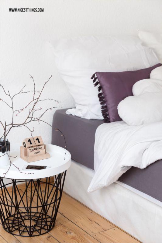 bedside table ferm living wire basket