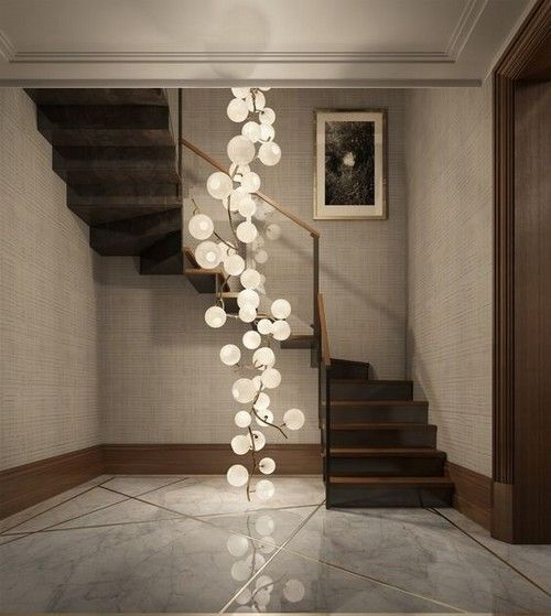 Creative Foyer Chandelier Ideas for Your Living Room 23 pics  Interiordesignshome.com Nice chandelier in