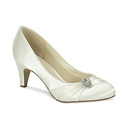 #debenhams Shoes 4 #promshoes Pink by Paradox London - Satin round toe court with pleats and vintage style trim