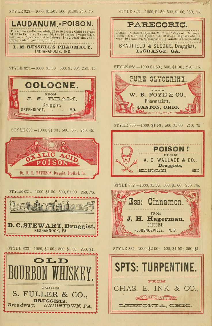 Vintage Apothecary Labels No. 4