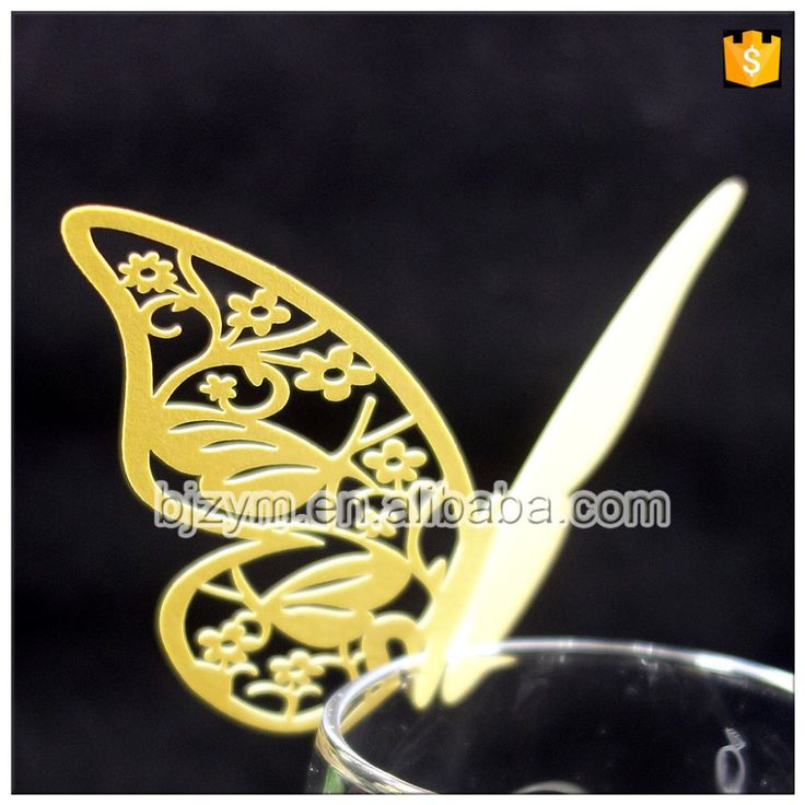Check out this product on Alibaba.com APP Promotional products gold color butterfly Escort Cards table mark Place Name Card Gifts & Crafts supplies, OEM