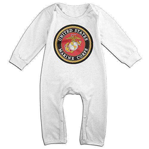 ElinaDesdemona USMC (United States Marine Corps) Unisex Baby Boys Girls Cotton Jumpsuit Long Sleeve Cotton Jumpsuit