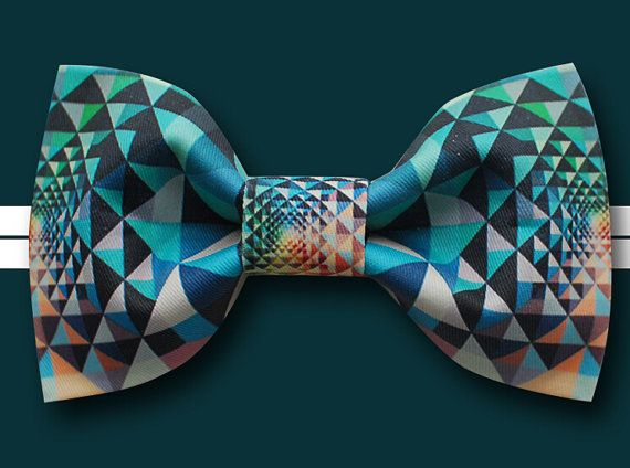 Behind Triangle Bowtie Modern Boys Bowtie Toddler door BackyardTie