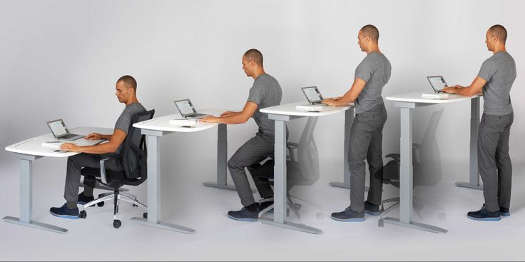 Here is the daily reality of standing desks!