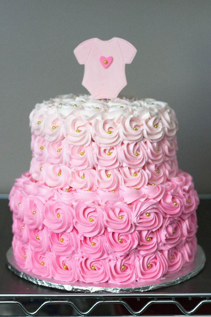 Best 25+ Girl baby shower cakes ideas on Pinterest