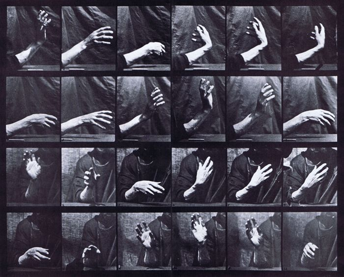 Eadweard Muybridge, Close Up Movement Of Hand Beating Time