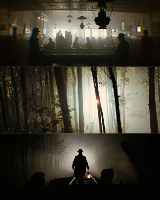 When it comes to cinematography this is my all time favorite.   Roger Deakins - Jesse James - #lighting #composition #vertical motif