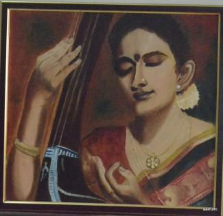 Buy paintings - Raaga , Realistic Paintings in Atgom Arts