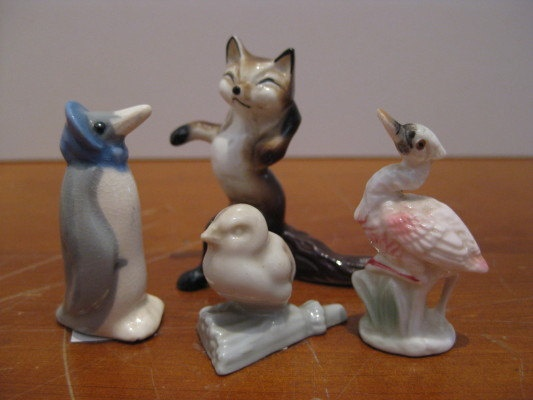 1960's Ceramic Mini Animal Collection by ChinaAndOldStuff on Etsy, $35.00