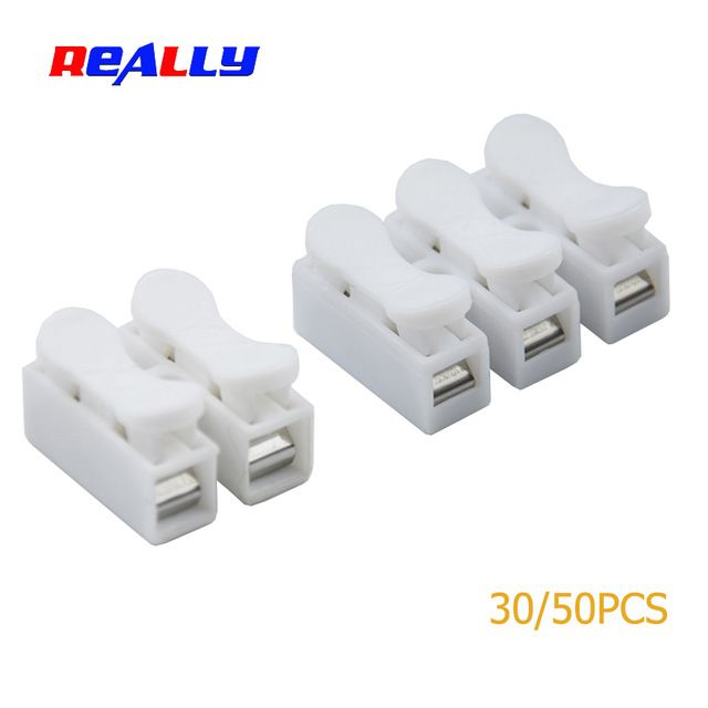Really 30 50pcs 2 3 Pins Electrical Cable Connectors Ch2 Ch3 Quick Splice Lock Wire Terminals Lamp Connection Revi Electrical Cables Connectors Usb Flash Drive