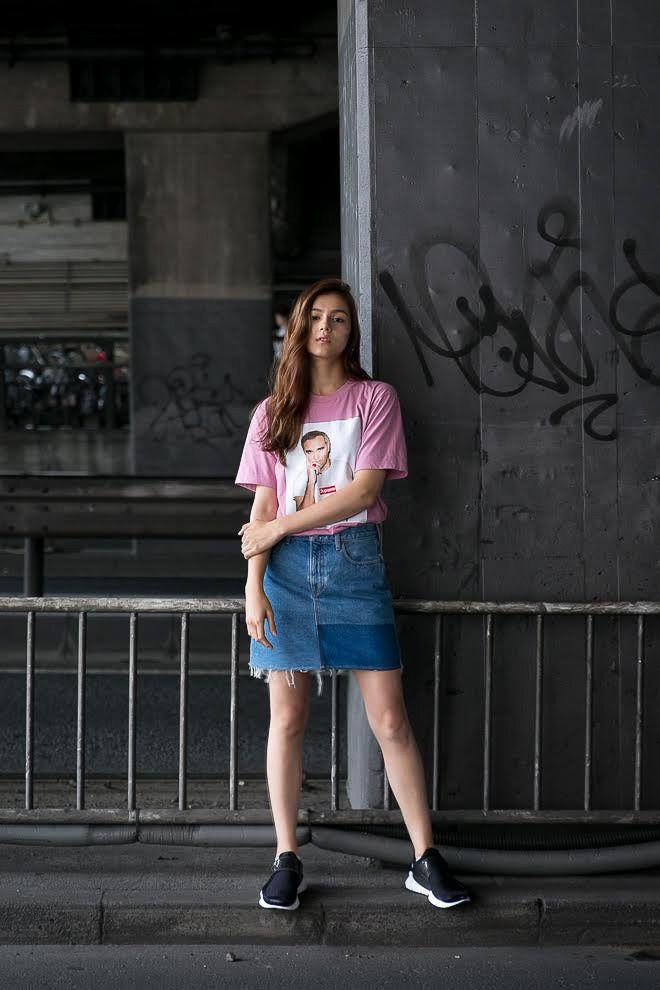 ストリートスナップ渋谷 - Celeina Ann(セレイナ・アン)さん - moussy, NIKE, Supreme, シュプリーム, ナイキ, マウジー