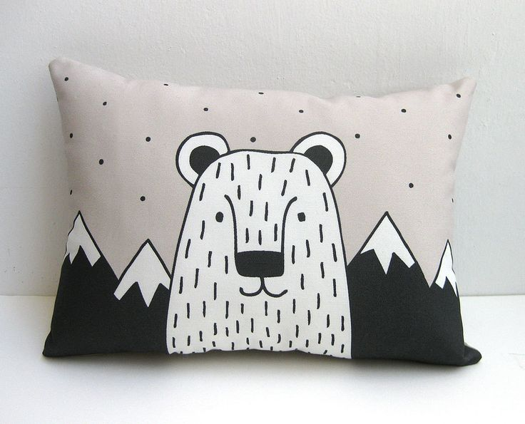 Bear Cushion Bear Throw Pillow Bear Pillow Animal Cushion