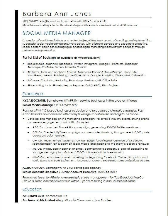 Cv Examples For Retail Jobs Uk Elegant Photography Social Media Resume Sample