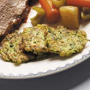 Zucchini latkes - my mother in law makes these, and they're so healthy and melt-in-your mouth delicious