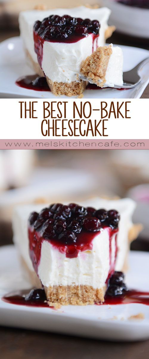 This really is the best no-bake cheesecake on the planet. (Cheesecake Recipes Fluffy)