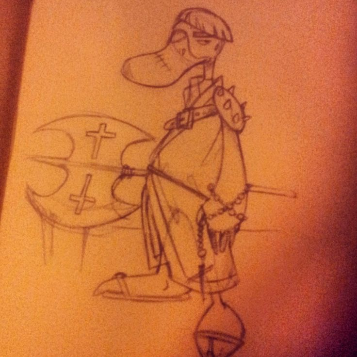 un ornithorynque moine guerrier