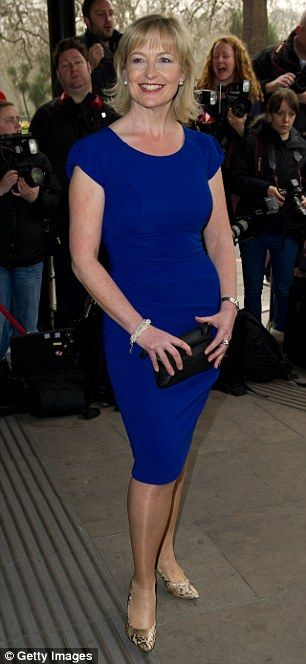 "Carol Kirkwood (5'7""), pictured at the Television and Radio Industries Club awards where she was ..."