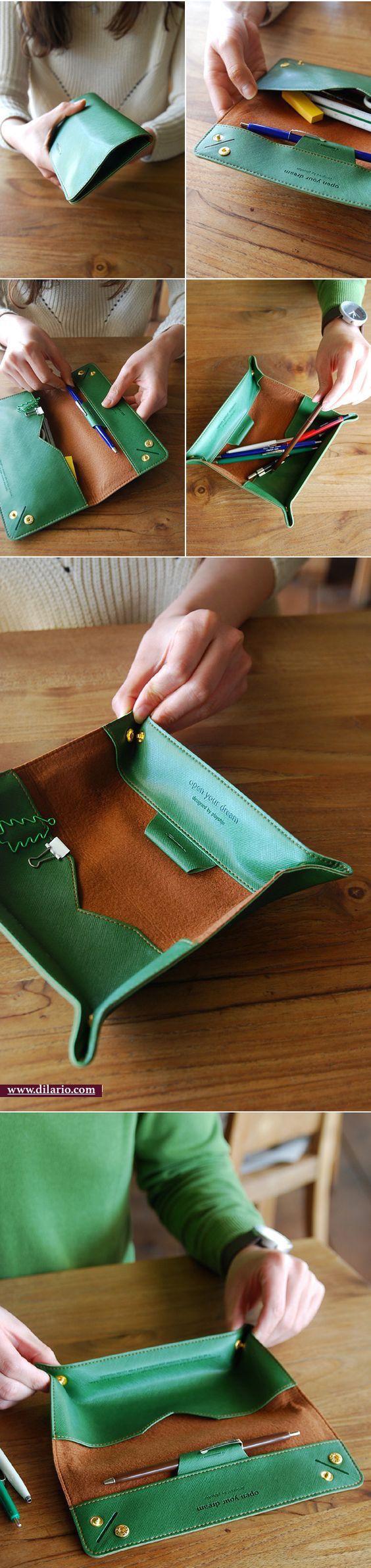 Pencil Case Leather Pouch