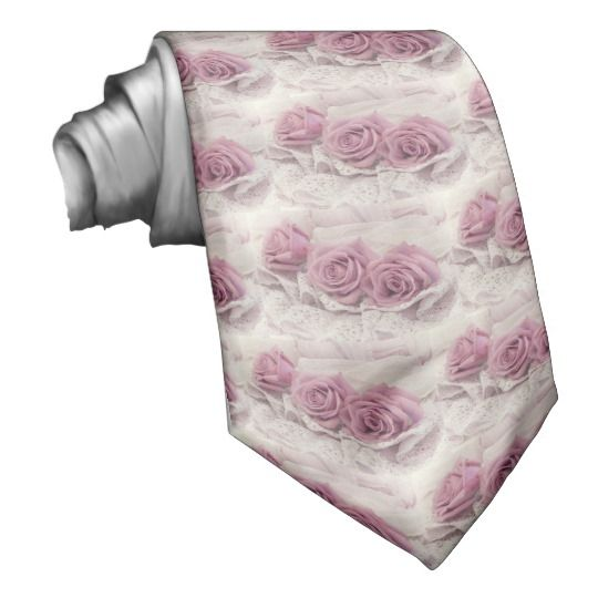 Roses And Lace Still Life Tie